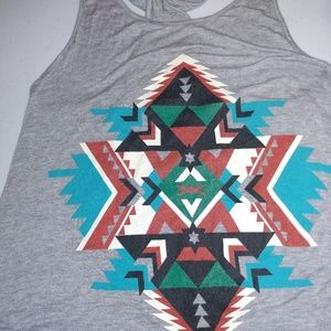 Tops - Grey muscle shirt astec print